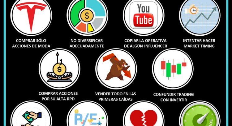 Iconos 11 Errores comunes cometidos por los inversores inexpertos