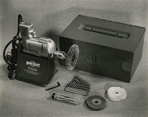 Diseño de la herramienta eléctrica portátil de Black and Decker patentada en 1941 (Stanley Black and Decker SWK)