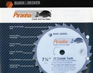 (Stanley Black and Decker SWK) Piranha sierra circular de dientes de carburo