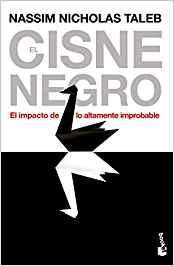 Portada del libro recomendado sobre bolsa e inversión: El cisne negro: el impacto de lo altamente improbable de Nassim Nicholas Taleb