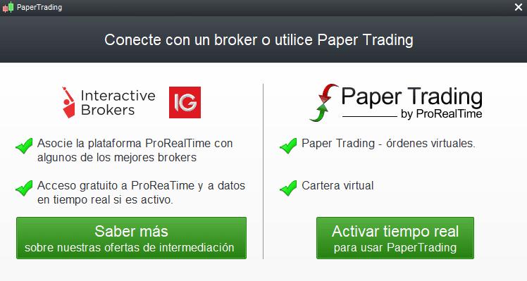 Brokers con conexión para operar en ProRealTime