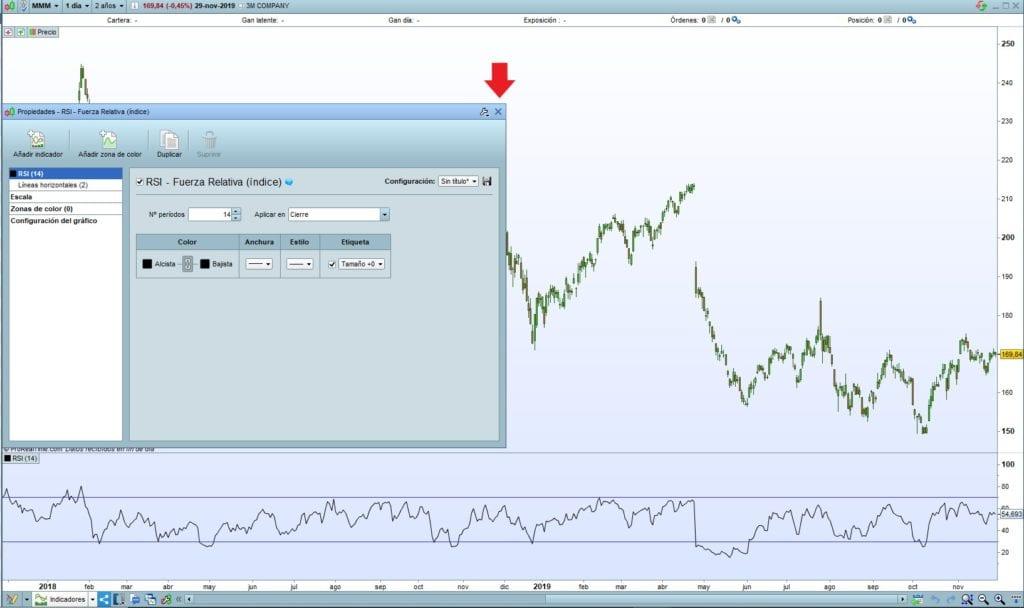 Cómo configurar el indicador RSI de Fuerza Relativa a un gráfico de precios en ProRealTime