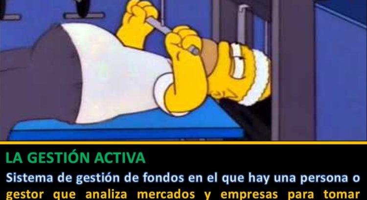 Definición gestion activa - Homer Simpson en el gimnasio
