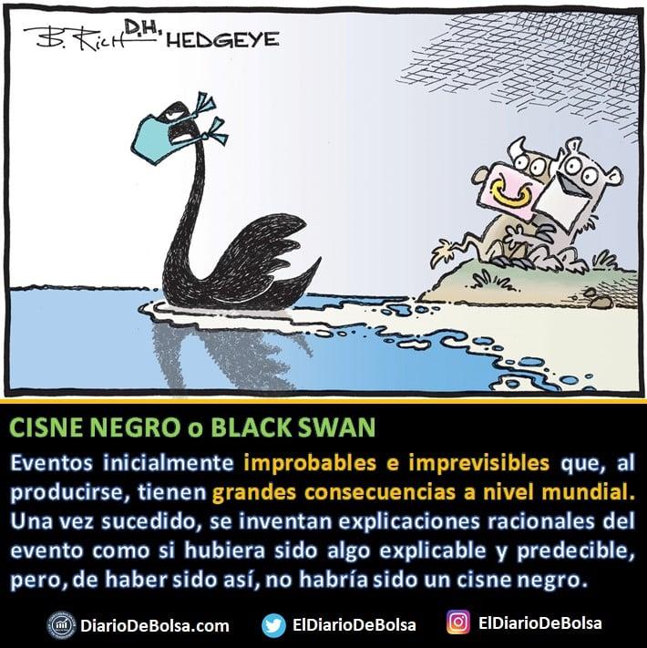 """Qué es un cisne negro en bolsa? eventos improbables e imprevisibles que, al producirse, tienen grandes consecuencias a nivel Mundial. Nassim Nicholas Taleb habla de esto en """"El Cisne Negro"""""""
