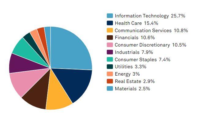 Composición por sectores del S&P 500