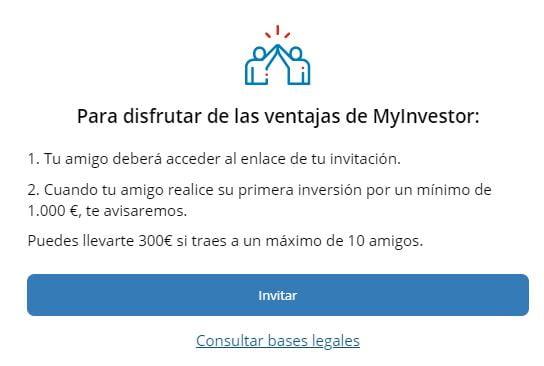 Condiciones programa de referidos de MyInvestor