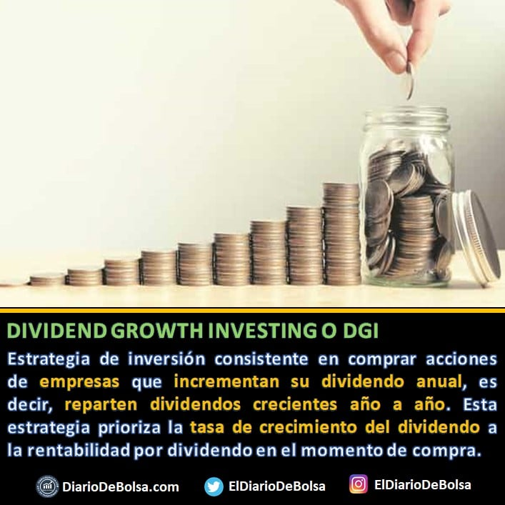 definición Dividend Growth Investing o DGI