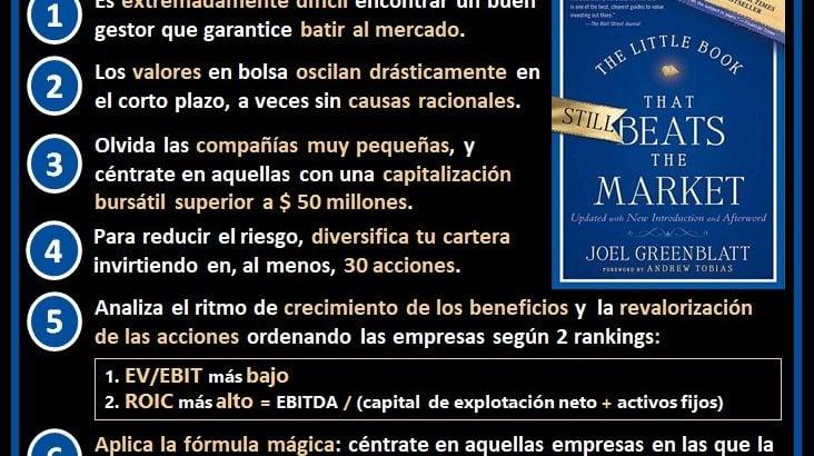 resumen ideas principales el pequeño libro que aun vence al mercado de Joel Greenblatt