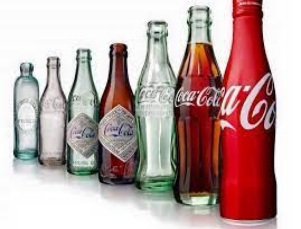 Foto de la evolución de las botellas de Coca-Cola Co (KO)