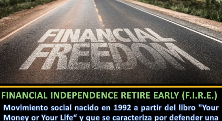 Definición FIRE Financial Independance Retire Early