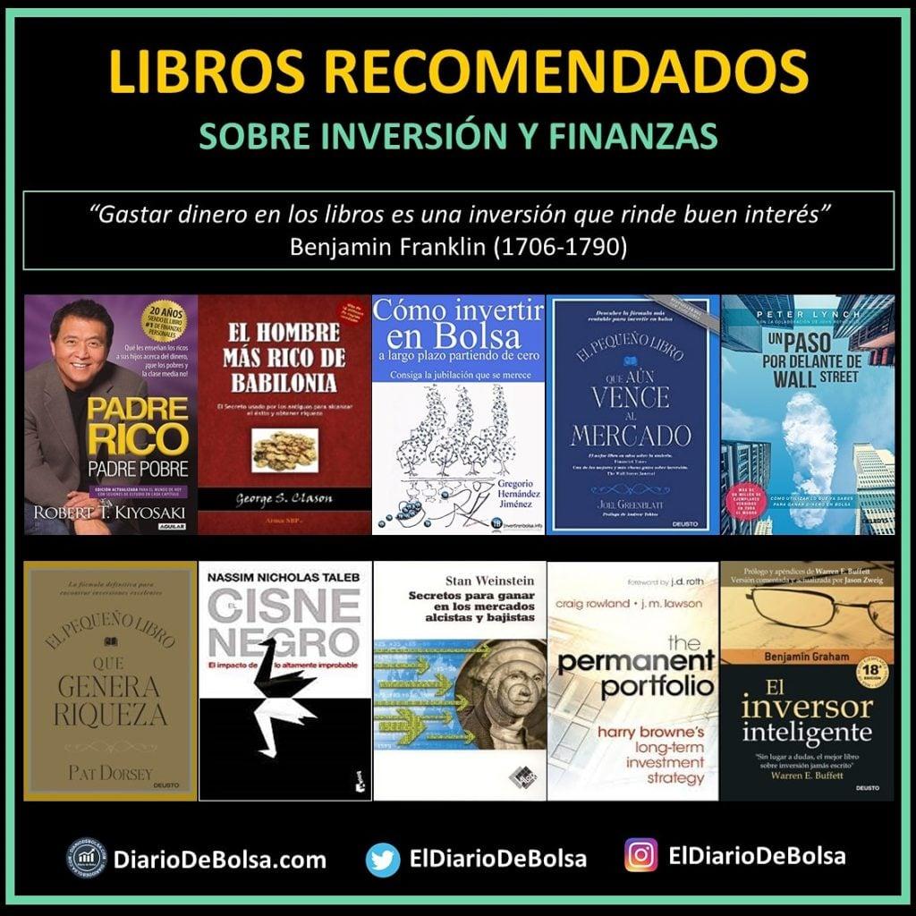Algunos libros recomendados sobre bolsa e inversión