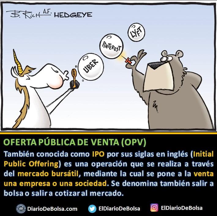 Qué es una OPV u Oferta Pública de Venta (IPO)