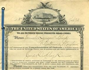 Primera patente de Stanley Black and Decker SWK en 1917 - Taladro portátil