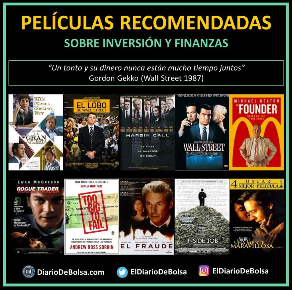 Portadas películas recomendadas Inversión y finanzas