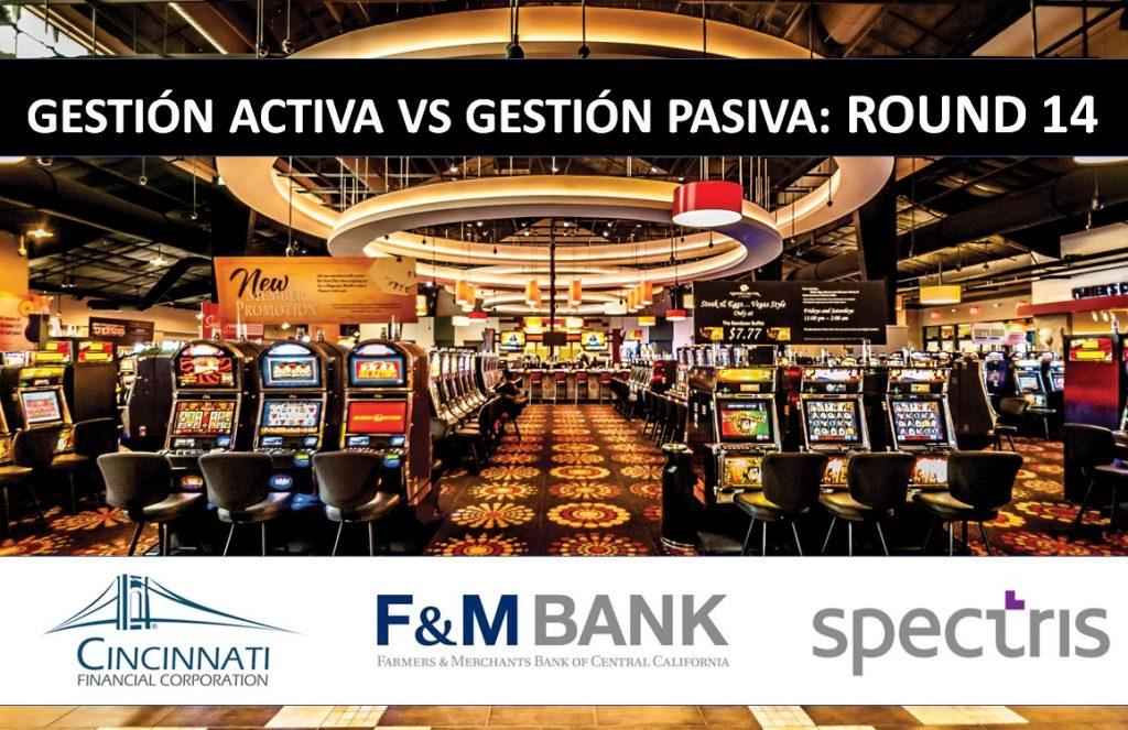 Casino tragaperras gestión activa vs gestión pasiva: Round 14: logos cincinnati Financial Corporation, Farmers and Merchants Bank of Central California Spectris