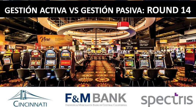Casino tragaperras gestión activa vs gestión pasiva: Round 14: logos cincinnati Financial Corporation, Farmers and Merchants Bank of Central California Spectris