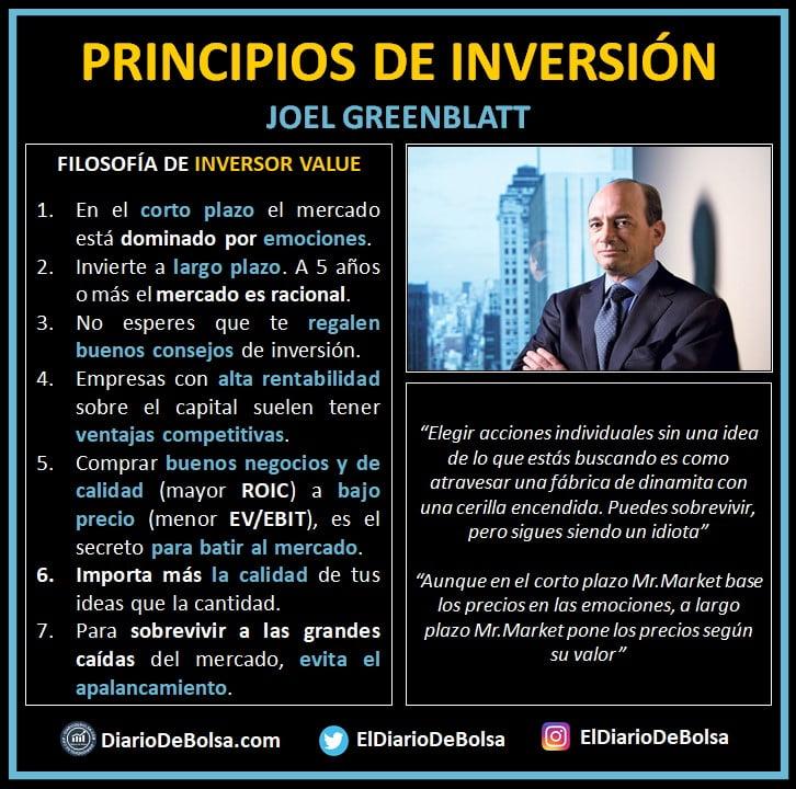 Principios de inversión, ideas principales y grandes frases de Joel Greenblatt