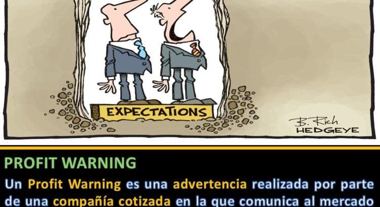 Definición Profit Warning