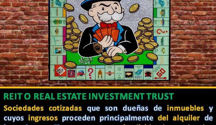 Cuadro Monopoly con definición de REIT o Socimi