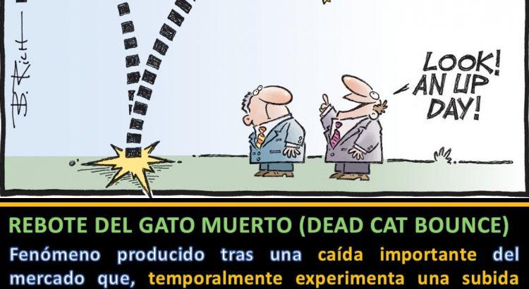 Dibujo Toro rebotando Hedgeye - Rebote del gato muerto