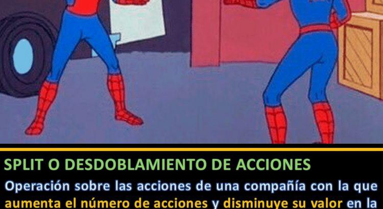 Dibujo dos spiderman - split o desdoblamiento