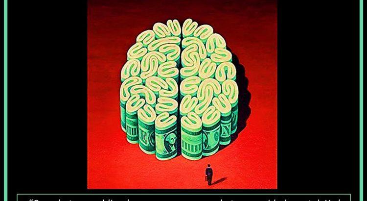 dibujo cerebro billetes dolar