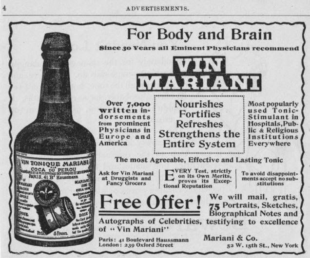 Anuncio de Vin Mariani